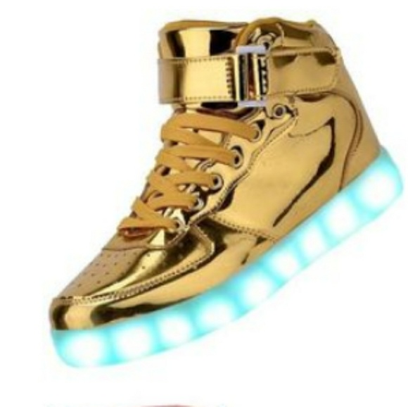 Dema Shoes | Gold With Glitter Light Up